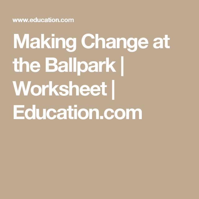 Making Change At The Ballpark