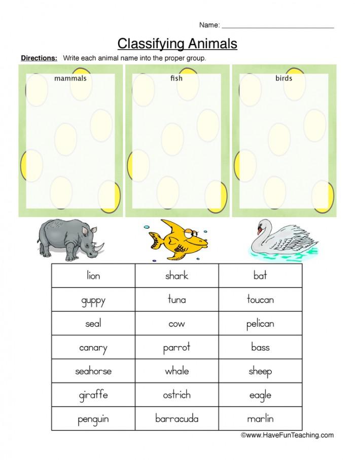 Mammals  Fish  Or Birds Classifying Animals Worksheet  Have Fun