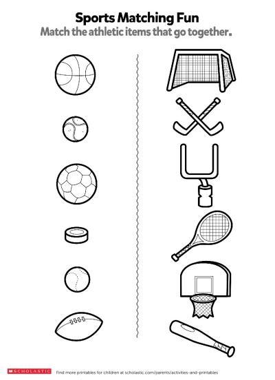 Match The Sports Items