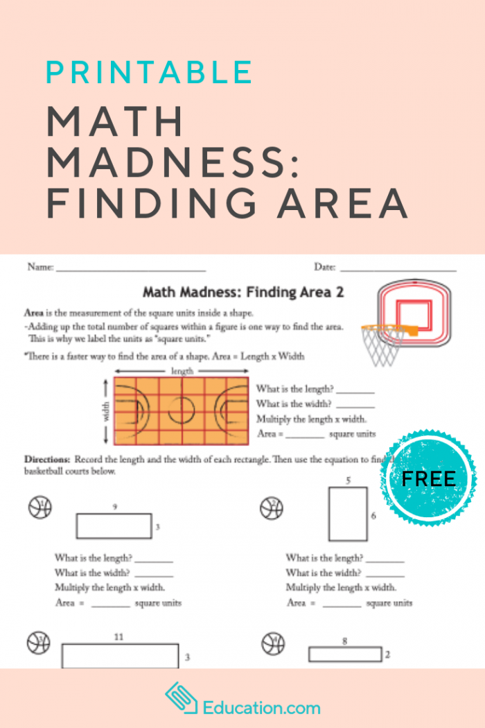 Math Madness Finding Area