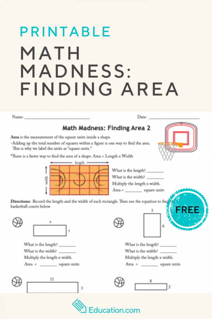 Math Madness Finding Area  With Images
