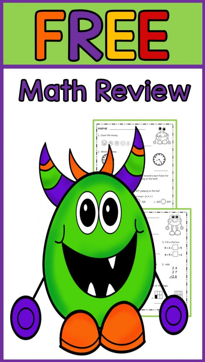 Math Mixed Review Part  Flying Through Fourth Grade Worksheets