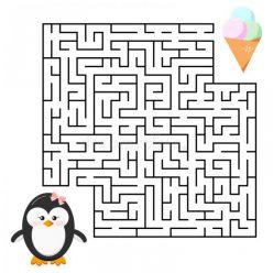 Penguin Shape Maze