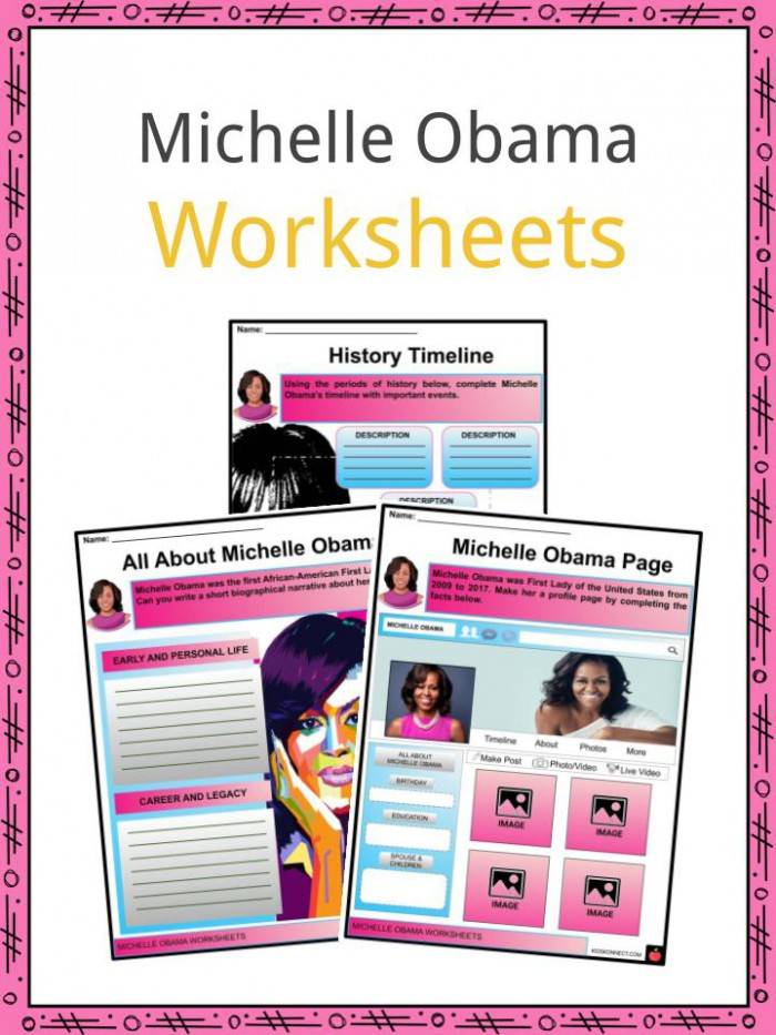 Michelle Obama Facts  Worksheets  Family Life   Education For Kids