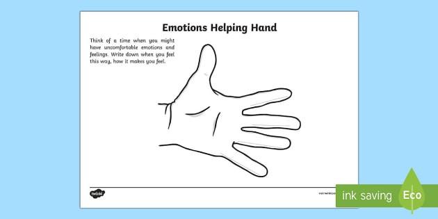 Mindful Me Emotions Helping Hand Worksheet  Worksheet
