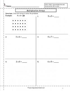 Multiplication: Array Multiplication (Part One)