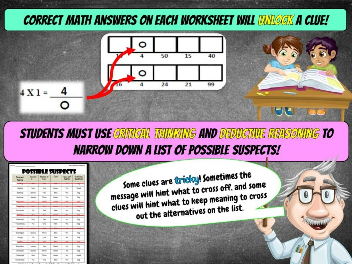 Multiplication Review Math Mystery