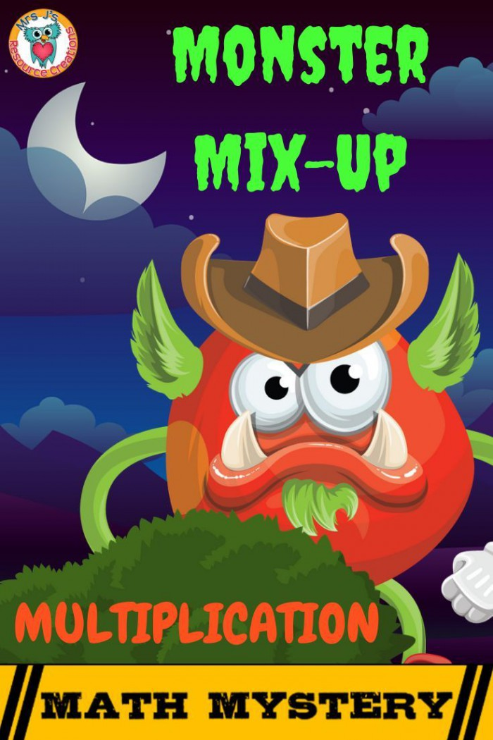 Multiplication Review Math Mystery Case Of The Monster Mix