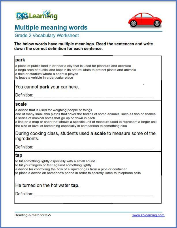 Multiple Meaning Words Worksheet Worksheets   99Worksheets