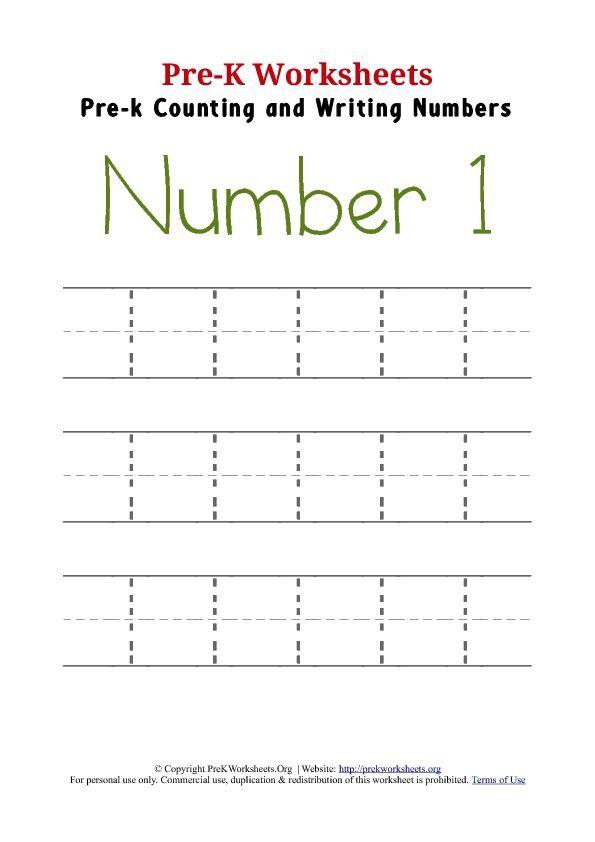 Number  Preschool Worksheet