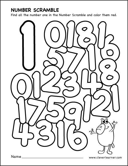 Number Scramble Activity Worksheets For Preschool Parents