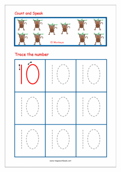 Tracing Numbers And Counting: 10