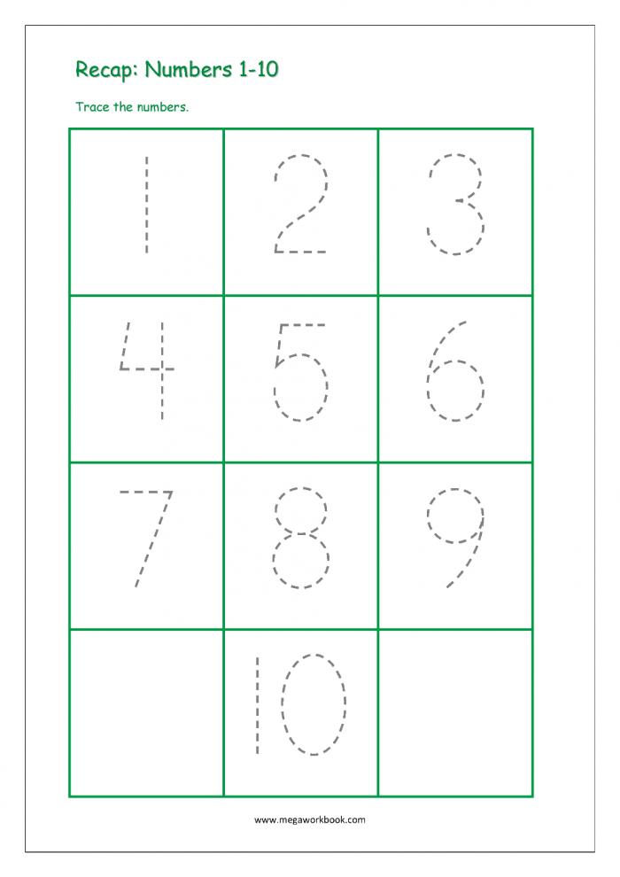 Number Practice 1-10 Worksheets 99Worksheets
