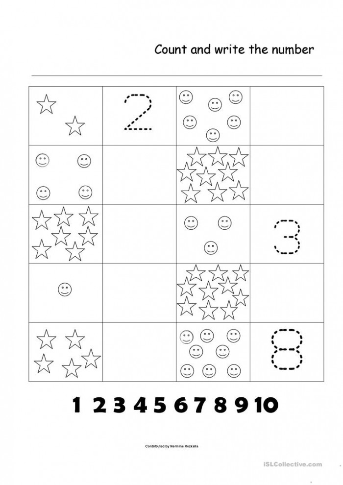 Counting Practice: 1-10 Worksheets | 99Worksheets