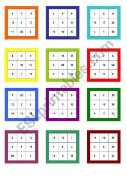 Number Bingo 1