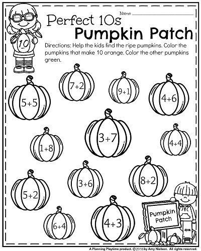 October Kindergarten Worksheets With Images