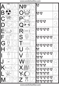 Tracing Lowercase Letters K,V,W