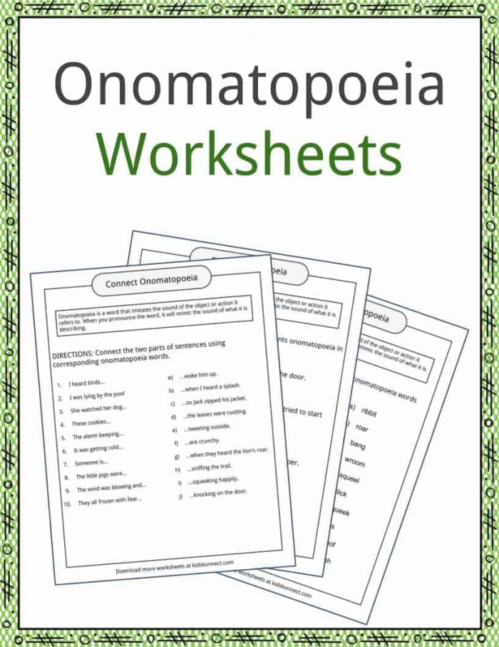 Onomatopoeia Examples  Definition And Worksheets