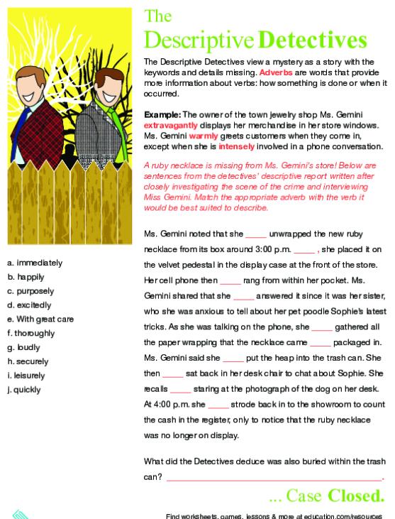Pantomime An Adverb Game