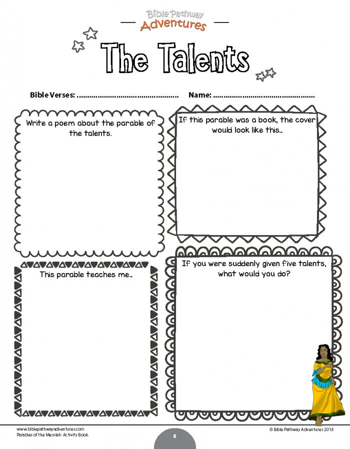 Parable Of The Talents Worksheet
