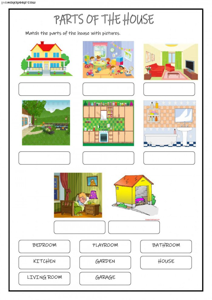 Parts Of A House Worksheets 99Worksheets