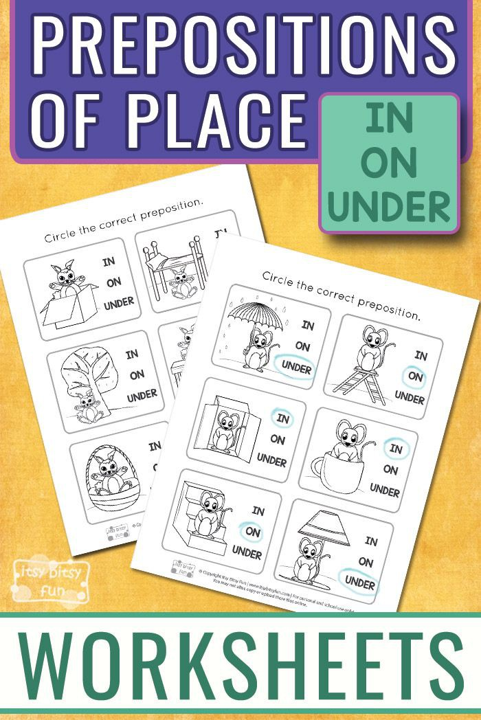 Prepositions Worksheets With Images