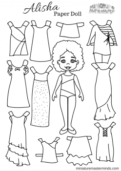 Printable Paper Dolls To Color!