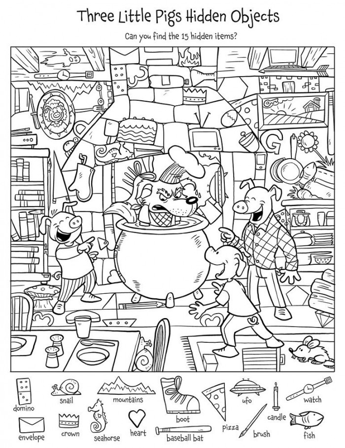 Printable Hidden Picture Worksheets With Images