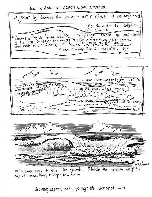 Printable How To Draw Ocean Waves Worksheet