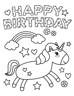 Happy Birthday Coloring!