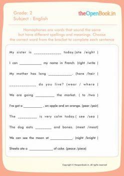 Homophones: Same Sounds