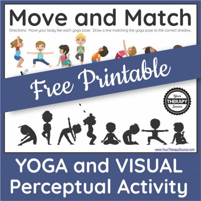 Printable Yoga Worksheet For Kids