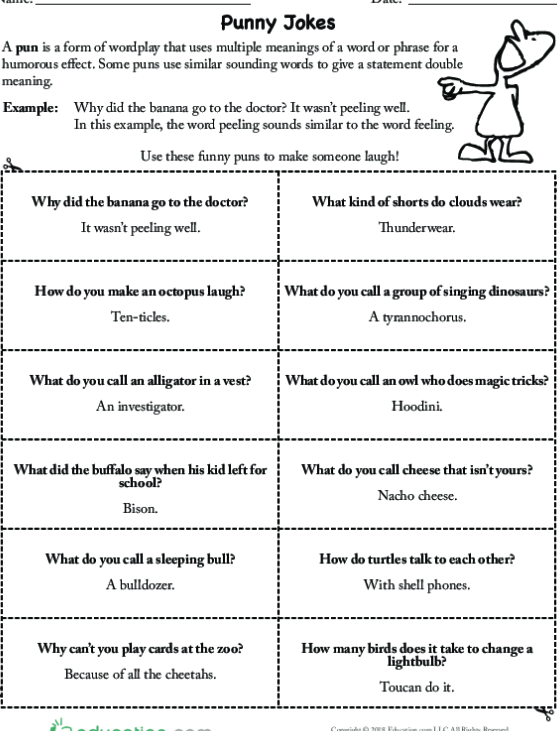 Puns With Homophones And Homographs