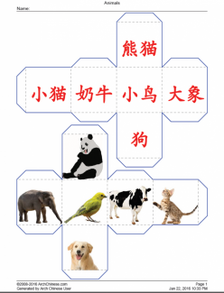 Learn Chinese: Write Animal Characters