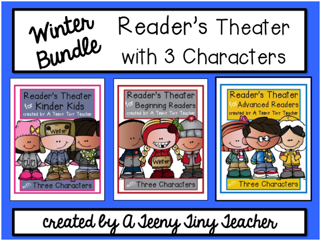 Readers Theater With  Characters Winter Bundle