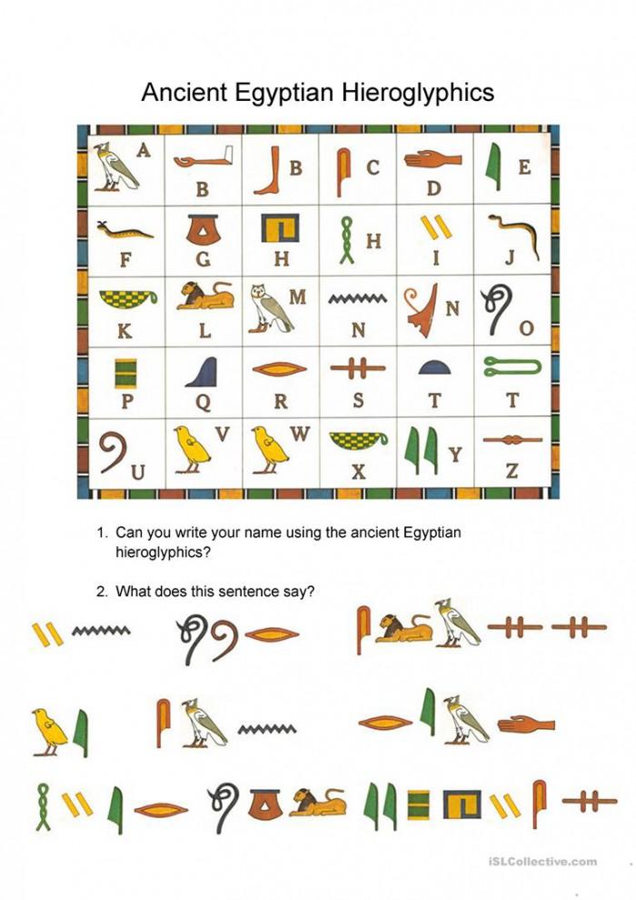 Reading Egyptian Hieroglyphics