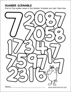 Preschool Math: All About The Number 7