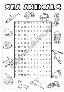 Word Search For Kids: Under The Sea