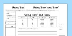 """""""Saw"""" Or """"Seen"""""""