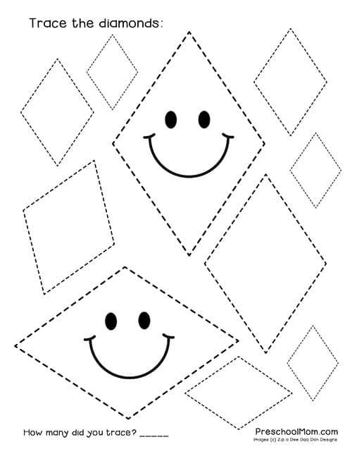 Shape Tracing Worksheets