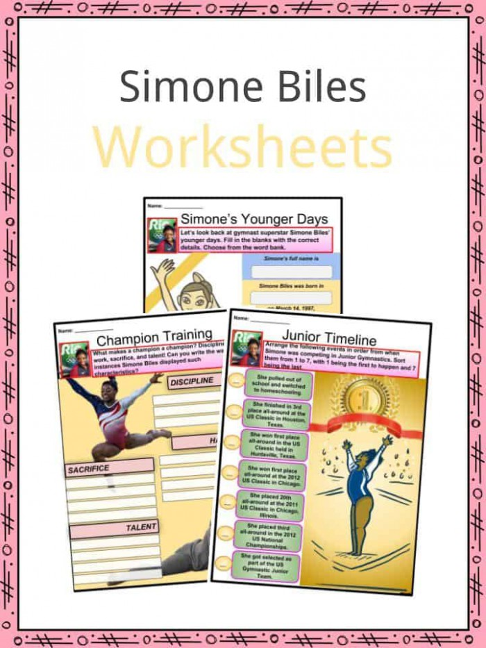 Simone Biles Facts  Worksheets  Olympics  Life   Biography For Kids
