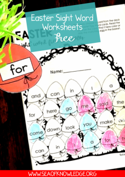 Easter Sight Words #4