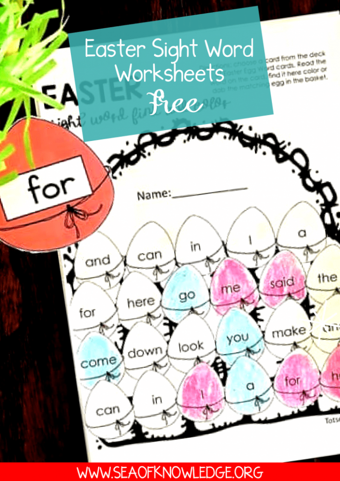 Spectacular Easter Sight Word Worksheets Free