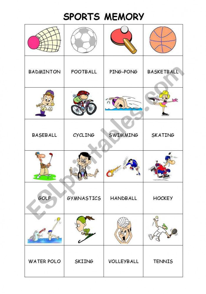 Sports Memory Game