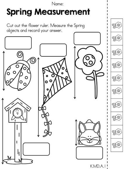 Spring Math Activities Kindergarten Distance Learning