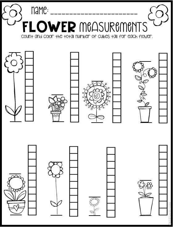 Spring Math And Literacy Worksheets For Preschool Distance