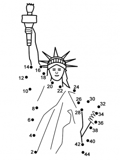 Statue Of Liberty Dot-To-Dot