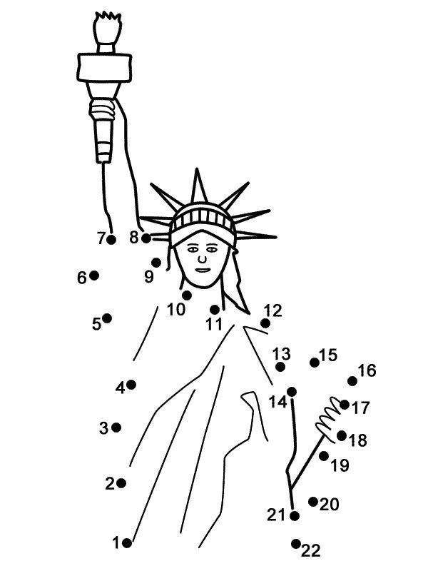Statue Of Liberty Connect The Dots Pagesgreat For The Th Of
