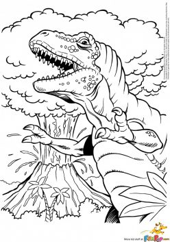 Color The Crazy T-Rex