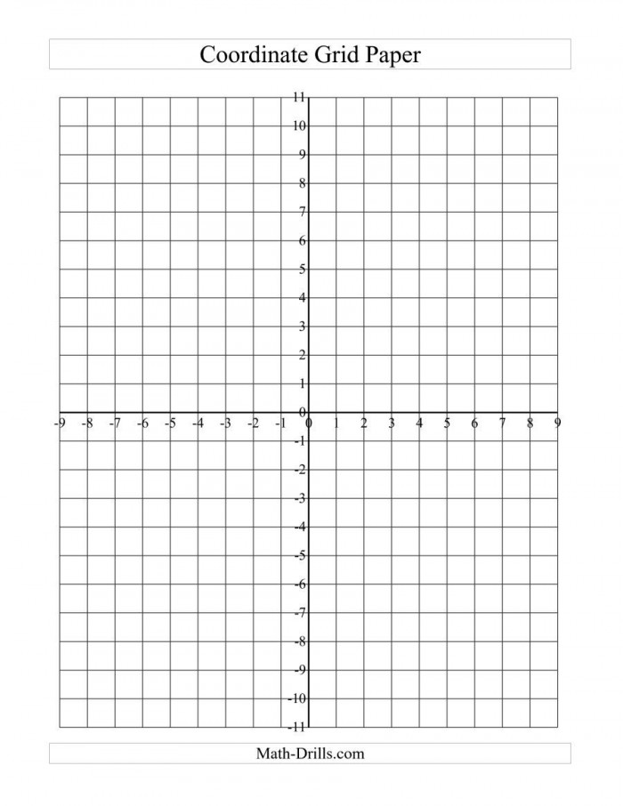 The Coordinate Grid Paper Large Grid A Math Worksheet From The